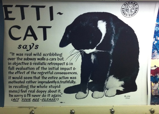 The Etti-Cat subway campaign ran throughout the 1960s